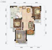 云星钱隆首府3室2厅1卫86平方米户型图