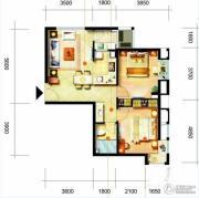 凯隆橙仕公馆1室1厅1卫75平方米户型图