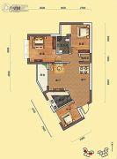 瑞海尚都3室2厅1卫87平方米户型图