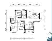多伦公园里3室2厅2卫119平方米户型图