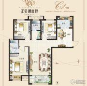 正弘澜庭叙3室2厅2卫122平方米户型图