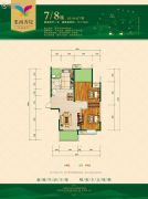 华晨・栗雨香堤2室2厅1卫117平方米户型图