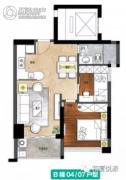 和厦悦派2室2厅1卫0平方米户型图
