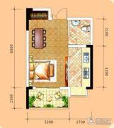 万佳・半山学府1室1厅1卫36平方米户型图