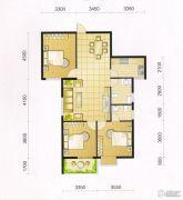 东城・华府3室2厅2卫114平方米户型图