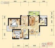 元森北新时代3室2厅1卫91平方米户型图