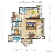 新鸿基悦城3室2厅2卫150平方米户型图