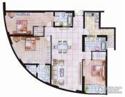 中天盛世观澜3室2厅3卫175平方米户型图