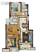 中梁香缇公馆3室2厅1卫82平方米户型图