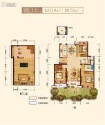 上实海上海3室2厅2卫110平方米户型图