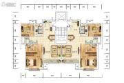 众美青城2室2厅1卫105平方米户型图