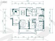 中惠�h园4室2厅2卫135平方米户型图