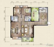 领秀资江3室2厅2卫120平方米户型图