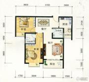 东方明都2室2厅2卫84平方米户型图