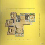 华侨城3室2厅1卫121平方米户型图