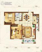 重邦康城2室1厅1卫93平方米户型图