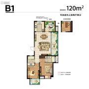 新城湾语城3室2厅2卫120平方米户型图