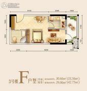 兴亚沙滨国际1室0厅1卫0平方米户型图