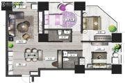 置地东方广场4室2厅2卫174平方米户型图