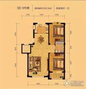 辽阳泛美华庭2室2厅1卫102平方米户型图
