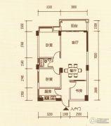 百福豪园3室2厅1卫84平方米户型图
