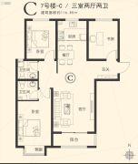 星河湾・荣景园3室2厅2卫116平方米户型图