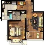 紫竹半岛2室2厅1卫0平方米户型图