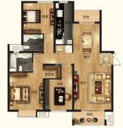 茂华国际汇3室2厅2卫0平方米户型图