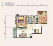 幸福汇2室2厅1卫92平方米户型图