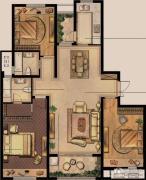 绿地峰云汇3室2厅2卫138平方米户型图