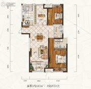 惠天然梅岭国际3室2厅2卫127平方米户型图