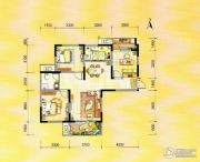 嘉亿国际3室2厅1卫103--104平方米户型图