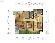万象国际城3室2厅2卫125平方米户型图
