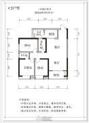 汉江国际3室2厅2卫135平方米户型图