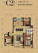 华润中央公园3室2厅2卫0平方米户型图