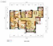 锦汇城4室2厅2卫114平方米户型图