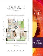 富兴鹏城2室2厅2卫126平方米户型图