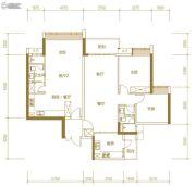 富力公主湾3室3厅2卫148平方米户型图