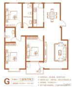 中州花都3室2厅2卫145--146平方米户型图