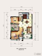 海盟・山水豪庭3室2厅2卫109平方米户型图