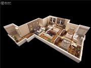 泰华・金汇时代3室2厅2卫139平方米户型图