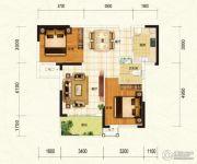 中建宜城春晓2室2厅1卫79平方米户型图