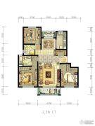 明天华城3室2厅2卫133平方米户型图