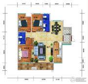 锦绣花园3室2厅2卫106平方米户型图