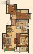 莱蒙顺泽・水榭花城3室2厅1卫90平方米户型图