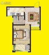 安泰・未来城1室1厅1卫50平方米户型图