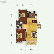 保利溪湖林语2室2厅1卫93平方米户型图