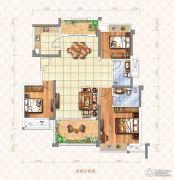 奥园湖畔一号3室2厅2卫130平方米户型图