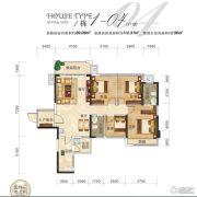 瀚林上筑4室2厅2卫112平方米户型图