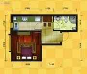 十三街区1室1厅1卫37平方米户型图